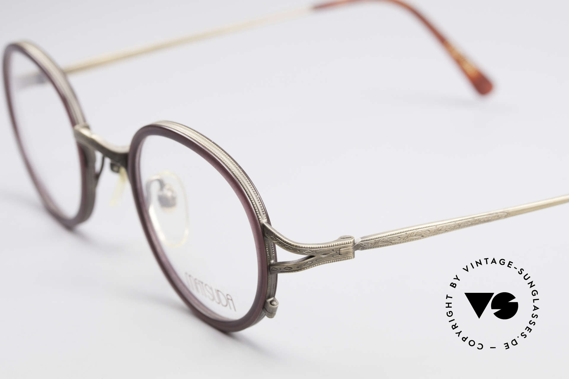 Matsuda 2835 Round 90's Eyeglass-Frame, demo lenses can be easily replaced with prescriptions, Made for Men and Women