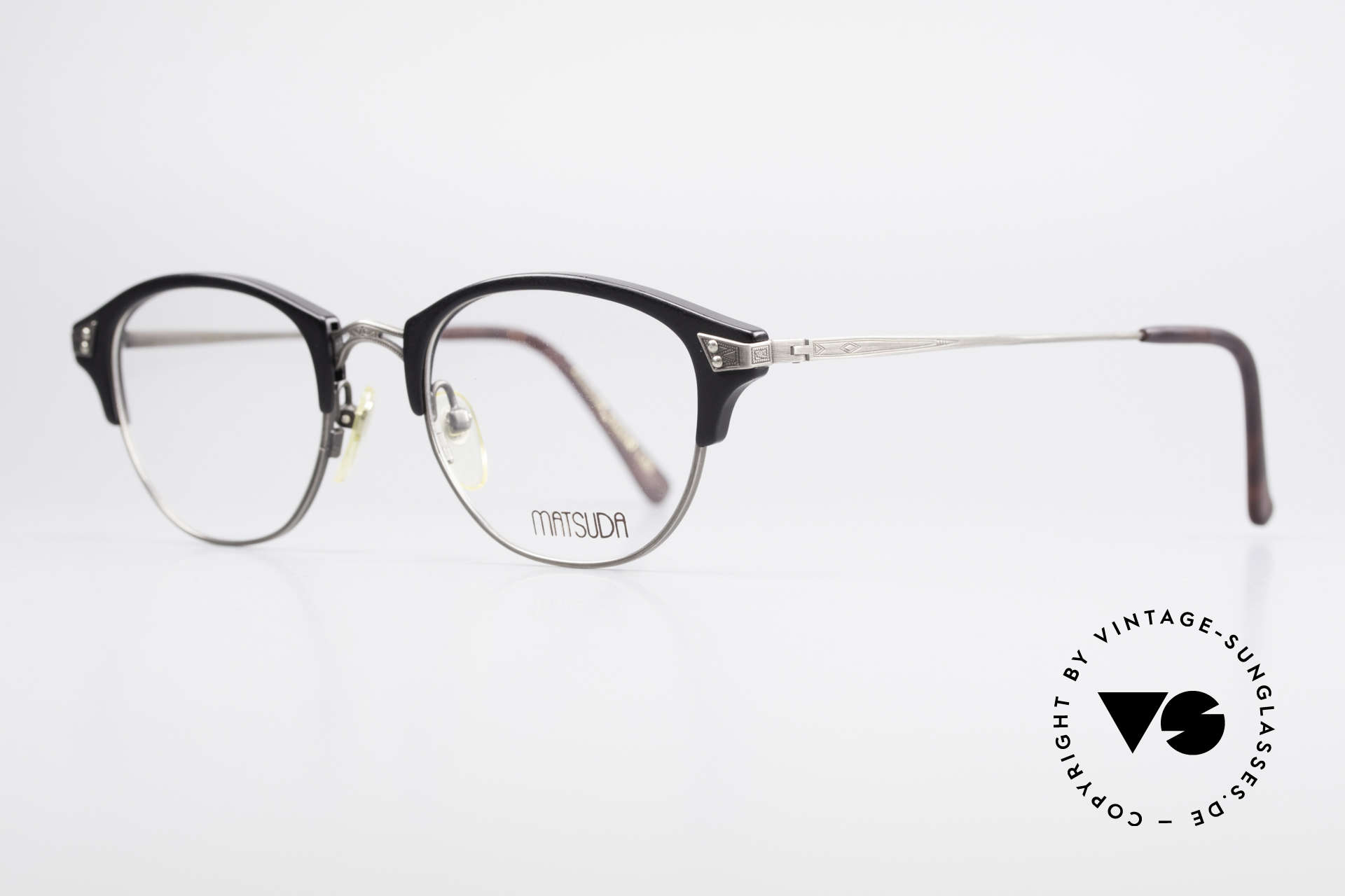 Matsuda 2840 Panto Luxury Eyeglass-Frame, full frame with attention to details; simply perfect, Made for Men and Women