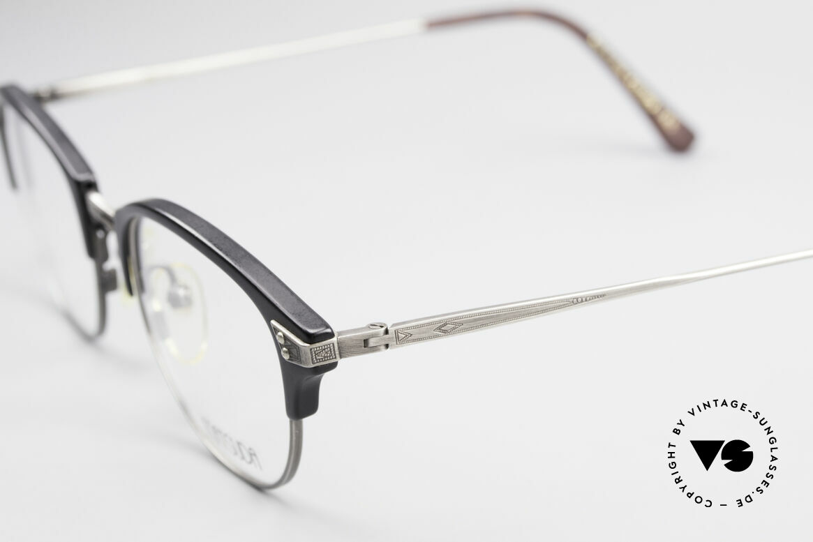 Matsuda 2840 Panto Luxury Eyeglass-Frame, demo lenses can be easily replaced with prescriptions, Made for Men and Women