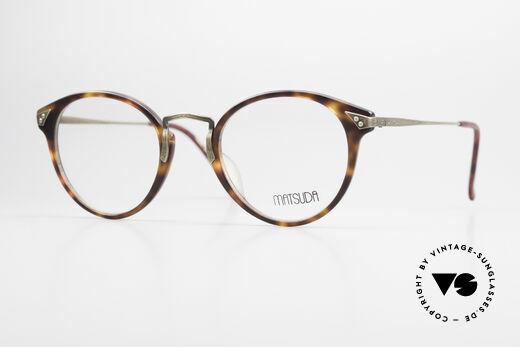 Matsuda 2805 Vintage Glasses Panto Style Details