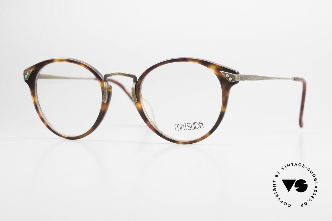 Matsuda 2805 Vintage Glasses Panto Style, vintage Matsuda designer eyeglasses from the 90s, Made for Men and Women