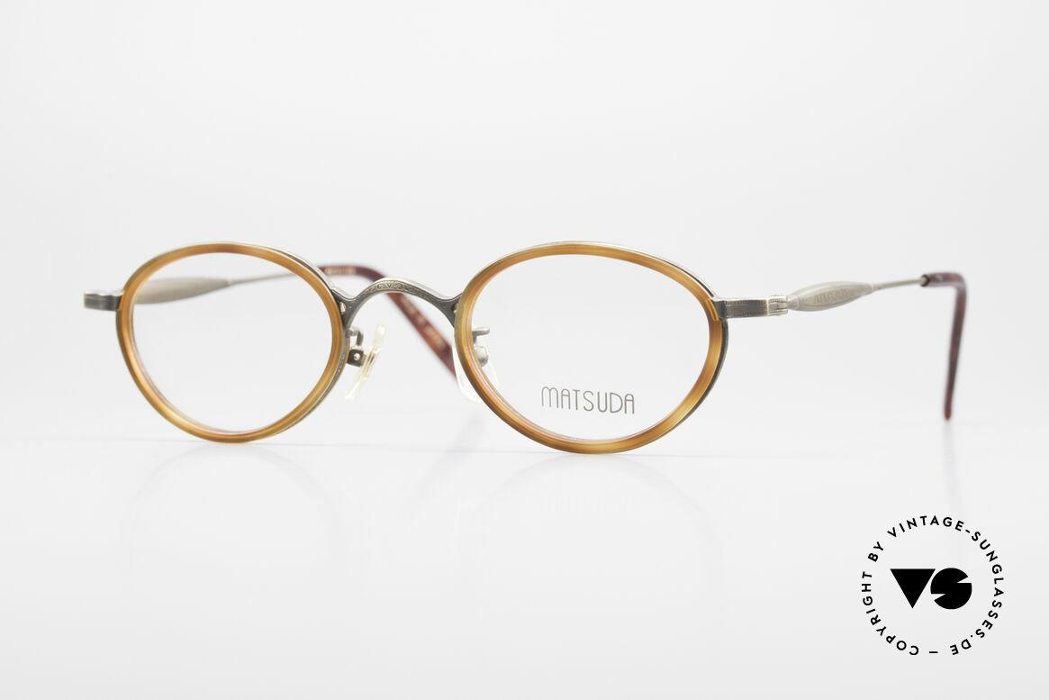 Matsuda 10401 Vintage Eyeglass-Frame Oval, vintage Matsuda designer eyeglasses from the 90s, Made for Men and Women