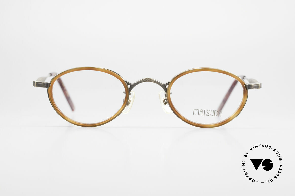 Matsuda 10401 Vintage Eyeglass-Frame Oval, high-end quality = a matter of course for Matsuda, Made for Men and Women