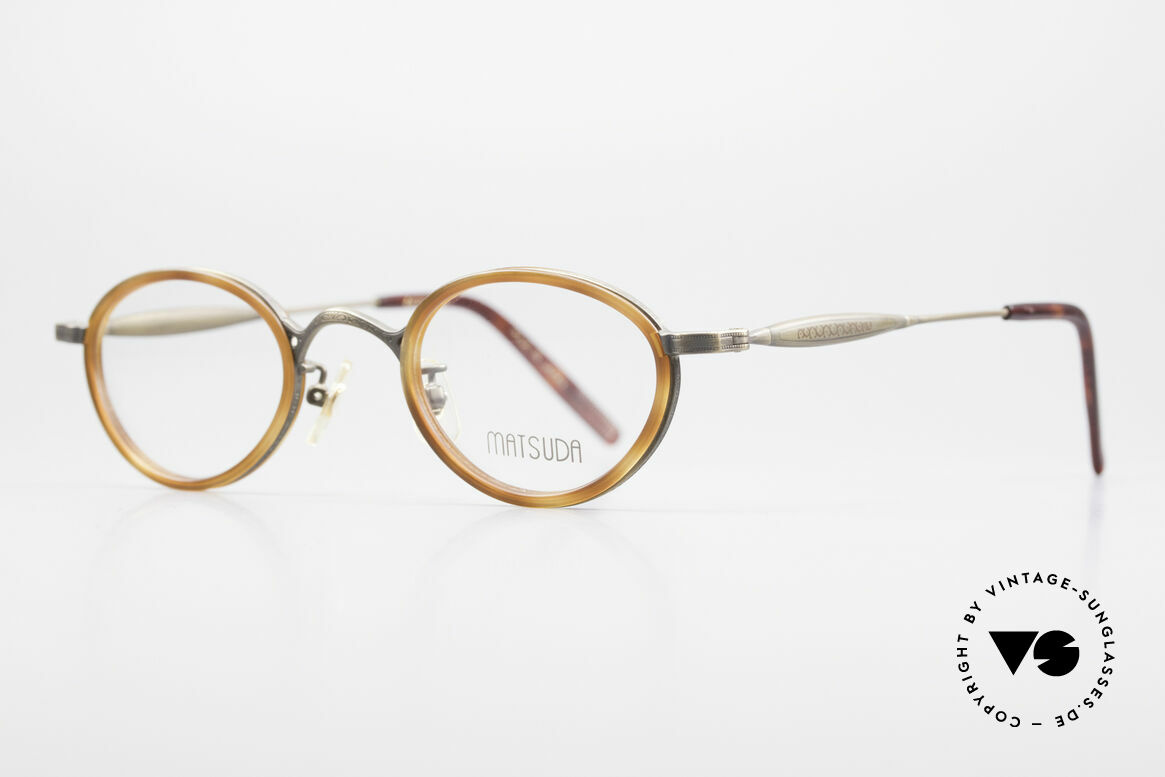 Matsuda 10401 Vintage Eyeglass-Frame Oval, finest components and TOP-NOTCH craftsmanship, Made for Men and Women