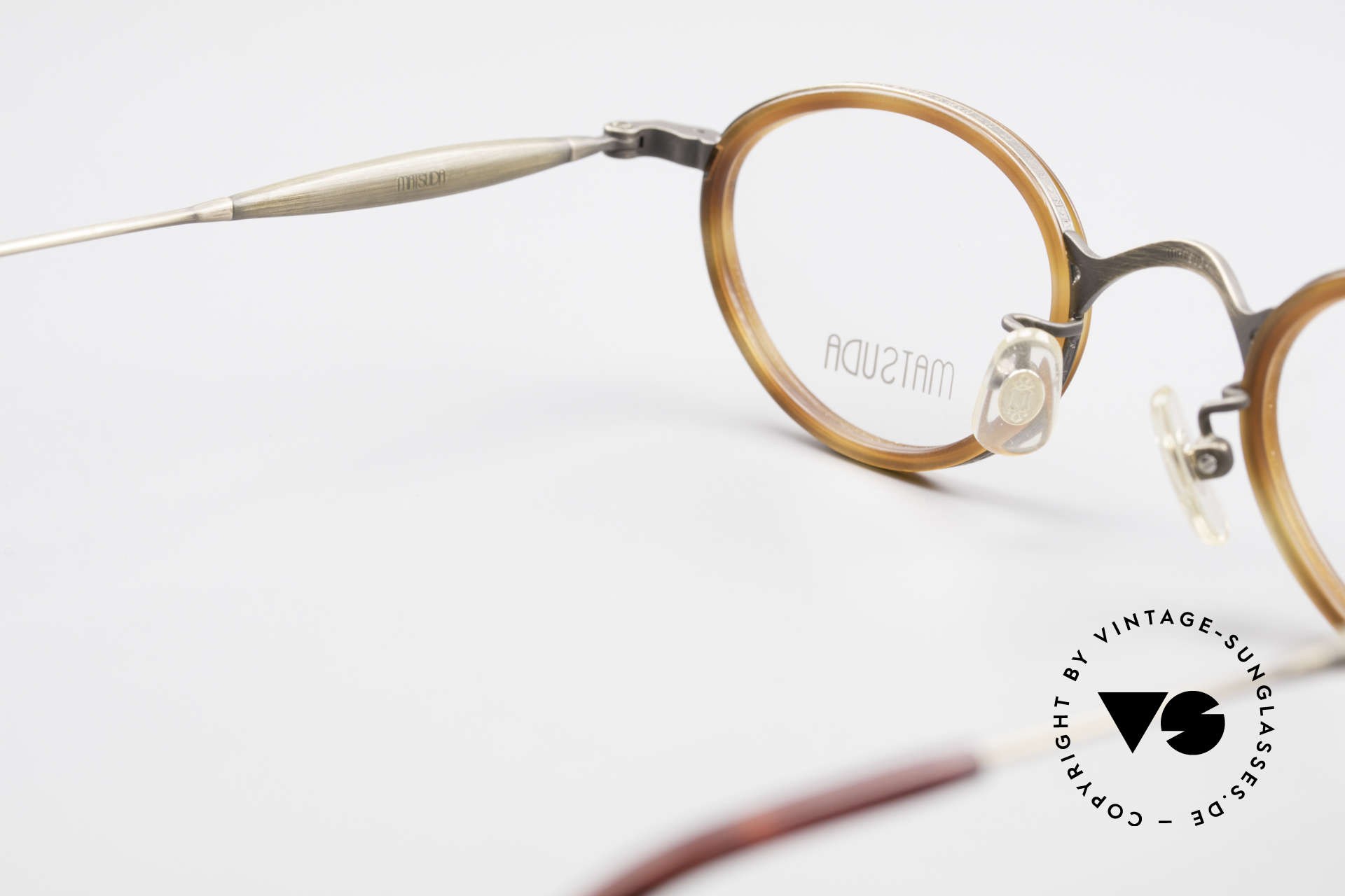 Matsuda 10401 Vintage Eyeglass-Frame Oval, NO retro glasses, but a 20 years old designer piece, Made for Men and Women