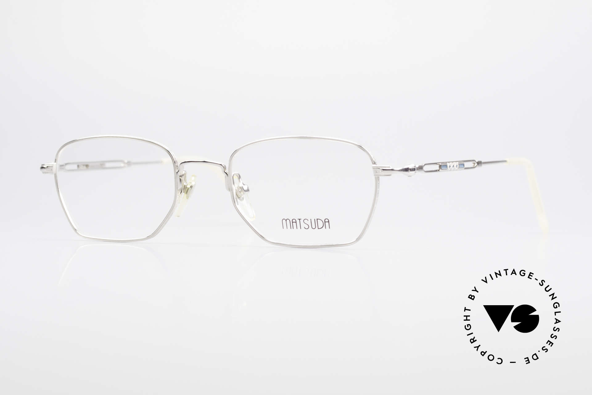 Matsuda 2882 Vintage Eyeglasses Square, vintage Matsuda designer eyeglasses from the 90s, Made for Men