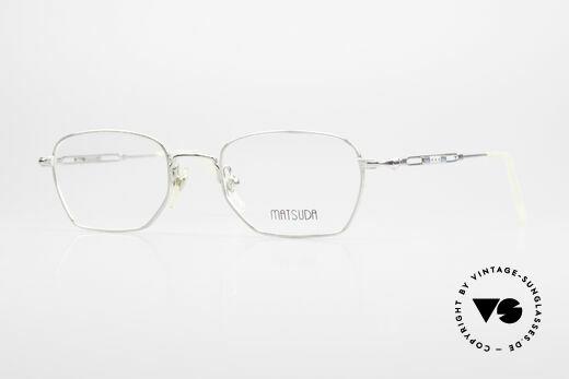 Matsuda 2882 Vintage Eyeglasses Square Details