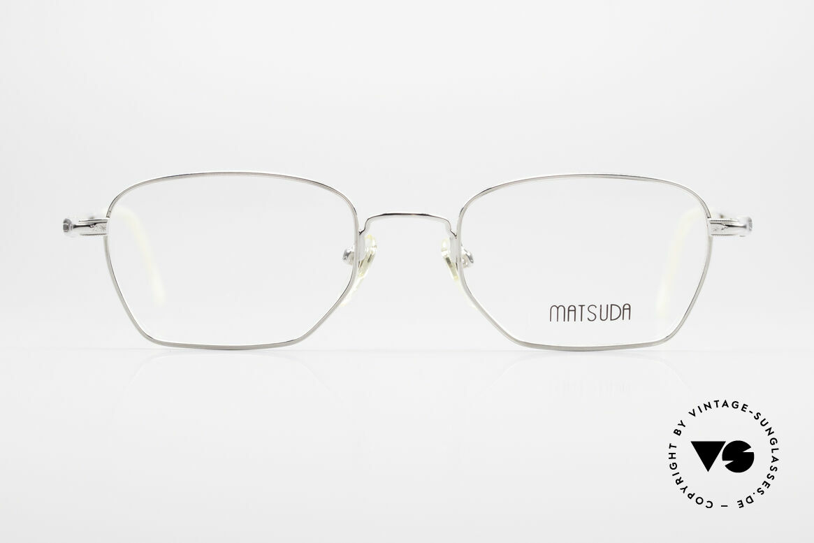 Matsuda 2882 Vintage Eyeglasses Square, high-end quality = a matter of course for Matsuda, Made for Men