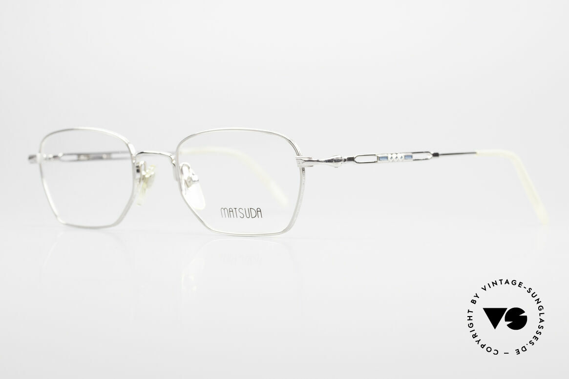 Matsuda 2882 Vintage Eyeglasses Square, the full frame is decorated with costly engravings, Made for Men