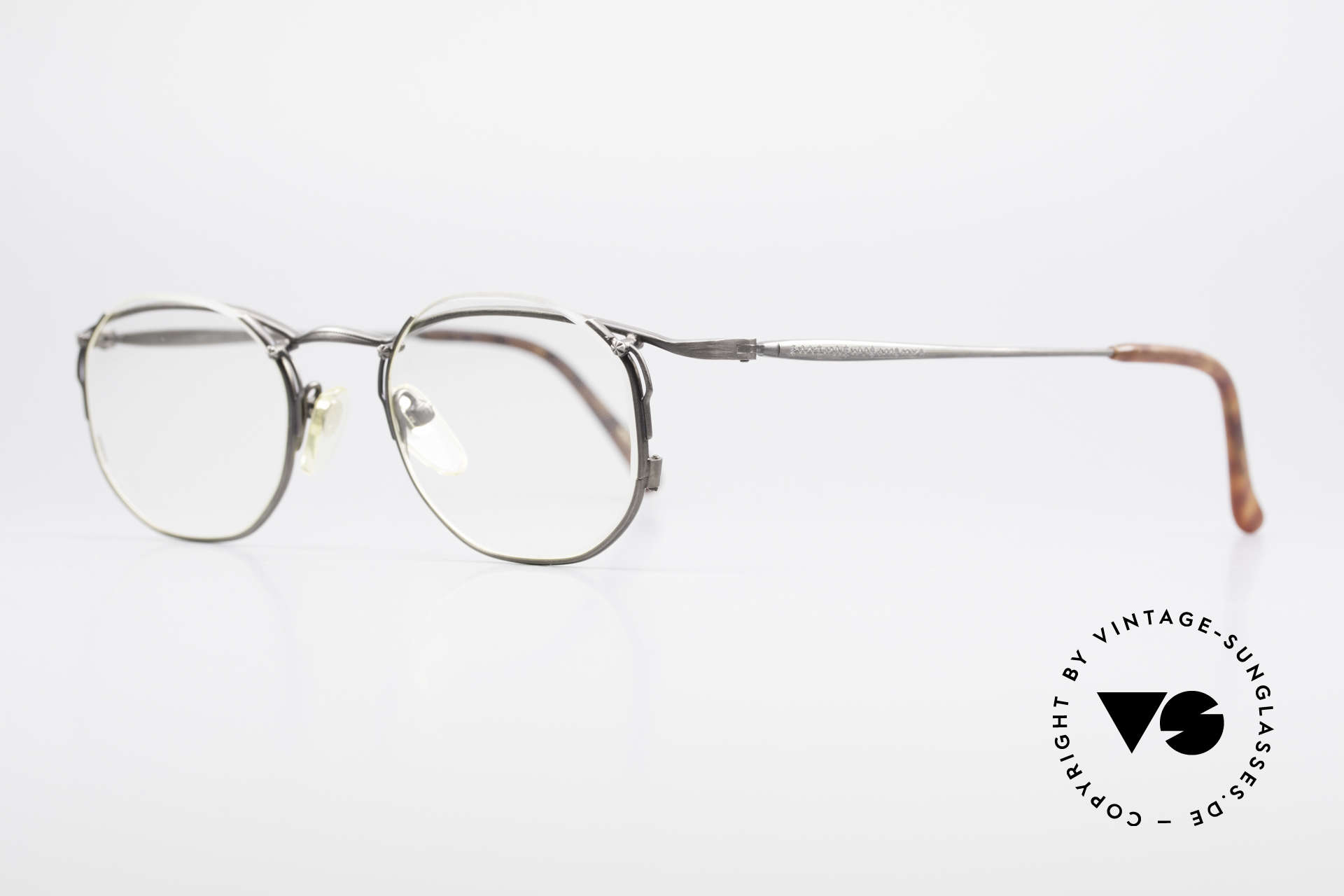 Matsuda 2856 Extraordinary Vintage Frame, the clear DEMO lenses are semi-rimless mounted, Made for Men and Women