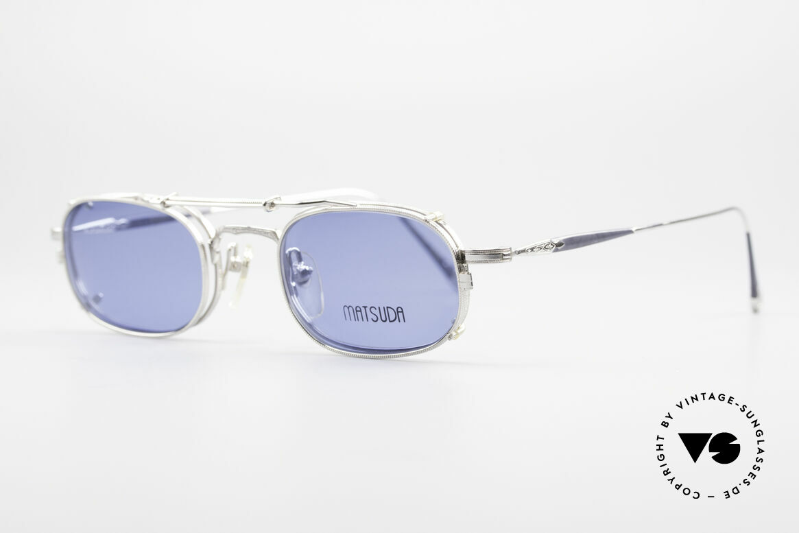 "Matsuda 10108 Steampunk Sunglasses 90's, many very interesting  ""retro-futuristic"" frame elements, Made for Men"
