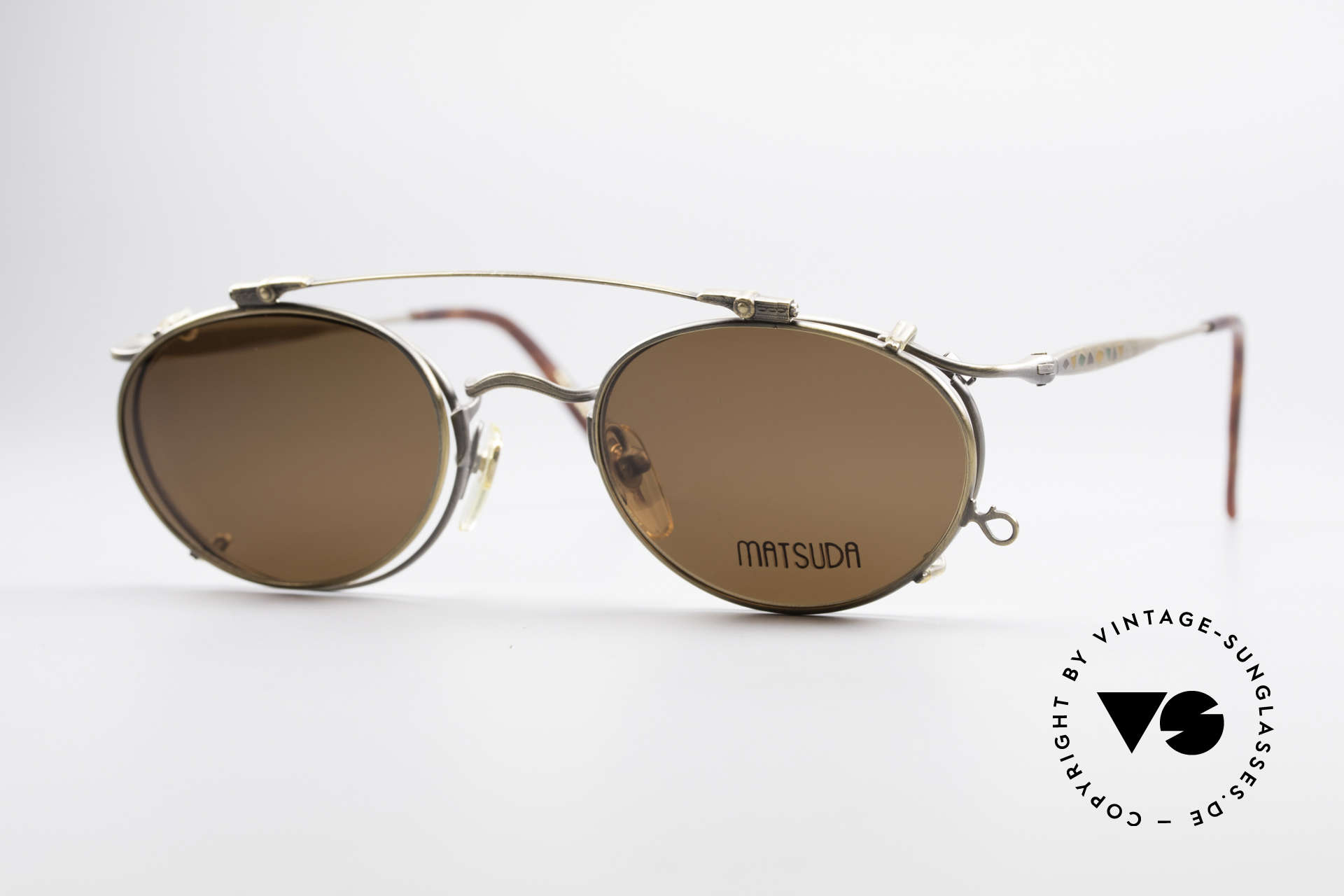 Matsuda 2853 Steampunk Vintage Shades, vintage Matsuda designer eyeglasses from the mid 90's, Made for Men