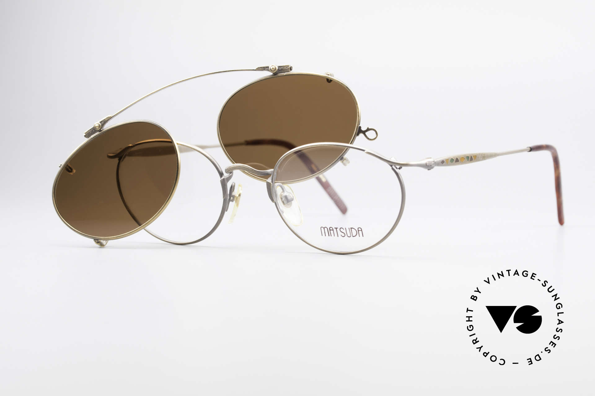 Matsuda 2853 Steampunk Vintage Shades, Size: small, Made for Men