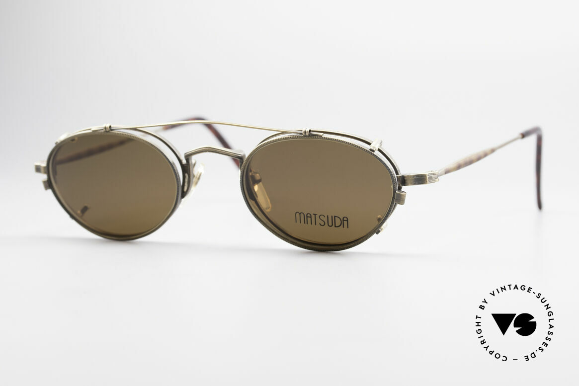 Matsuda 10102 Vintage Steampunk Shades, vintage Matsuda designer eyeglasses from the mid 90's, Made for Men