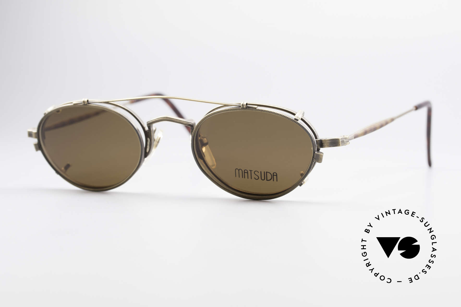 "Matsuda 10102 Vintage Steampunk Shades, many very interesting  ""retro-futuristic"" frame elements, Made for Men"