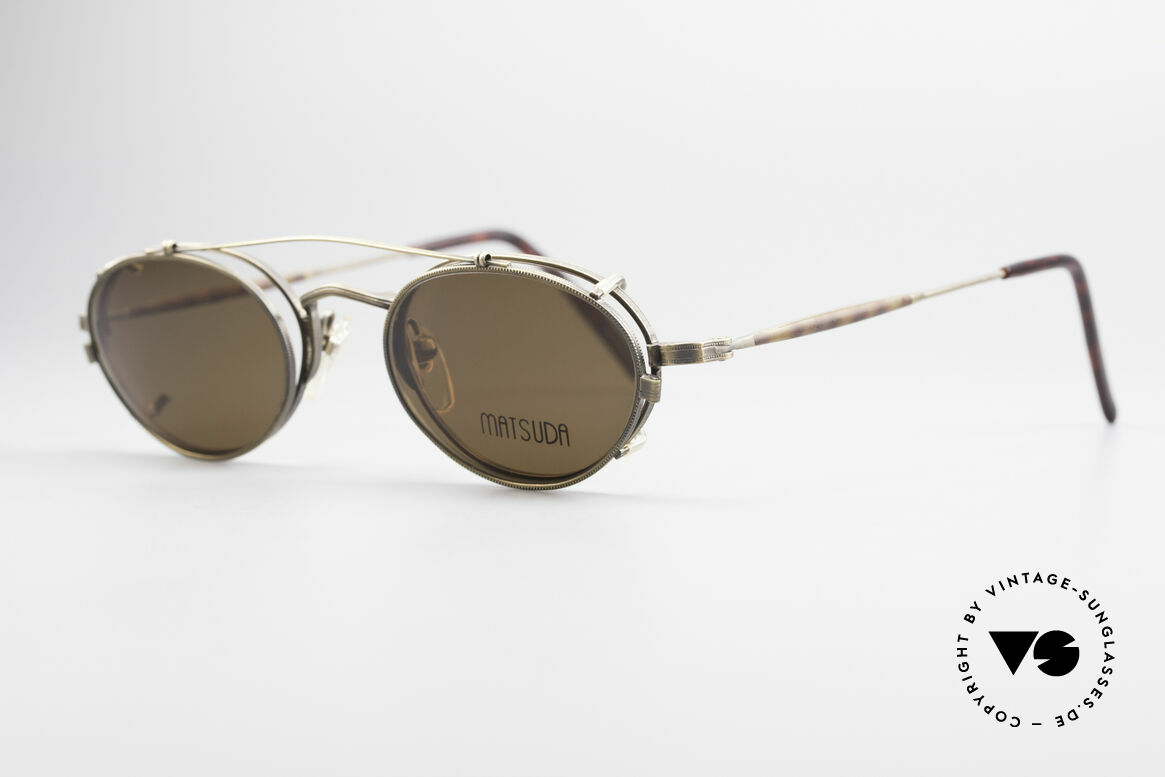 Matsuda 10102 Vintage Steampunk Shades, e.g. Sarah Connor wore Matsuda shades in Terminator 2, Made for Men