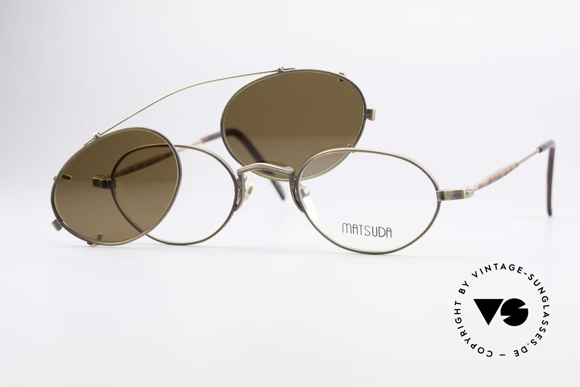 Matsuda 10102 Vintage Steampunk Shades, Size: small, Made for Men