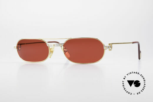 Cartier MUST Santos - M Luxury Sunglasses 3D Red Details
