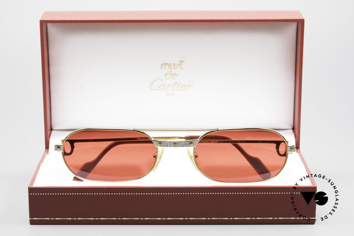 Cartier MUST Santos - M Luxury Sunglasses 3D Red