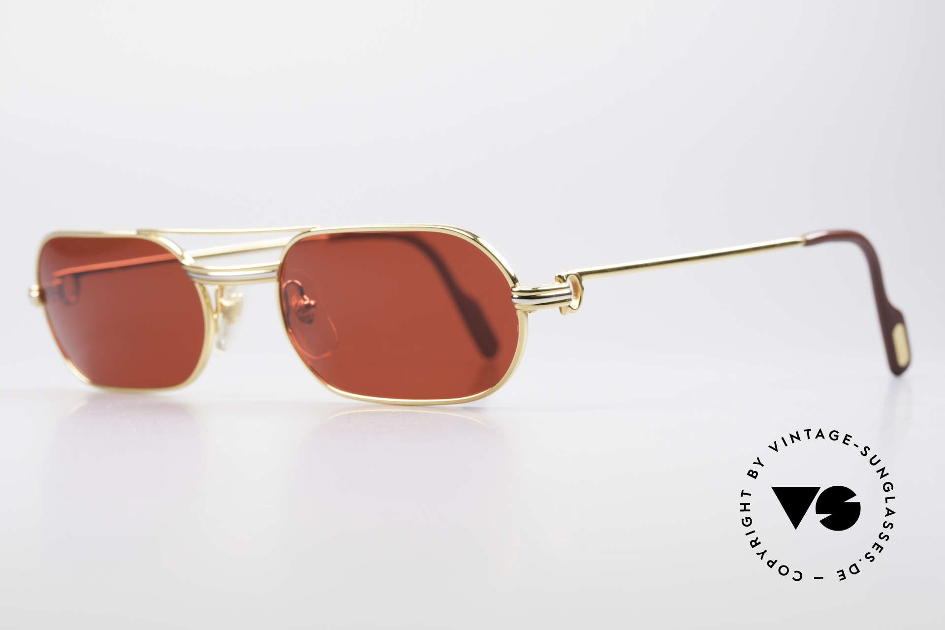 Cartier MUST LC - M 3D Red Luxury Sunglasses, 22ct gold-plated frame (like all old Cartier originals), Made for Men