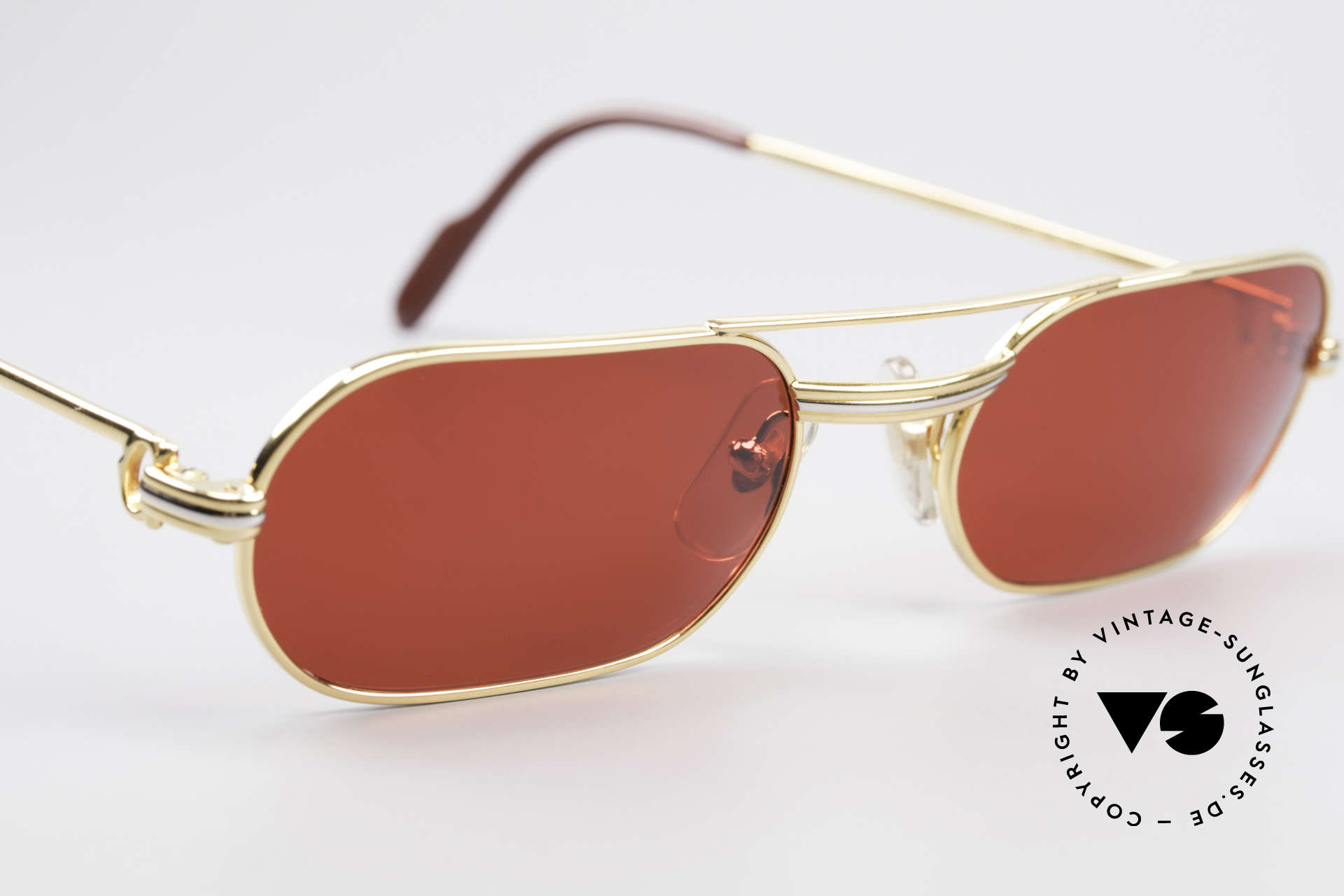 Cartier MUST LC - M 3D Red Luxury Sunglasses, with new CR39 plastic lenses in gaudy 3D-red; fancy, Made for Men