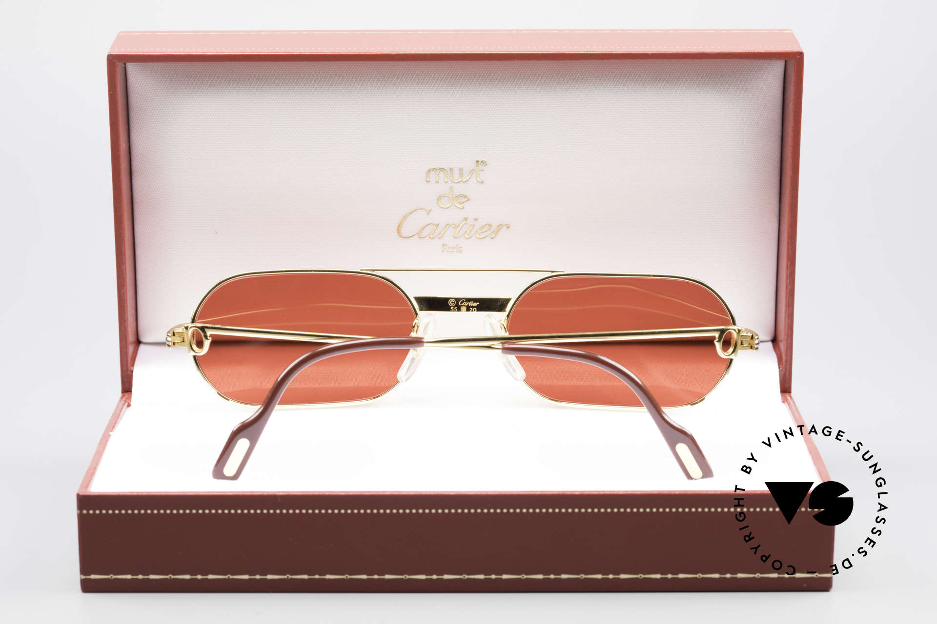Cartier MUST LC - M 3D Red Luxury Sunglasses, unworn with orig. packing (very rare in this condition), Made for Men