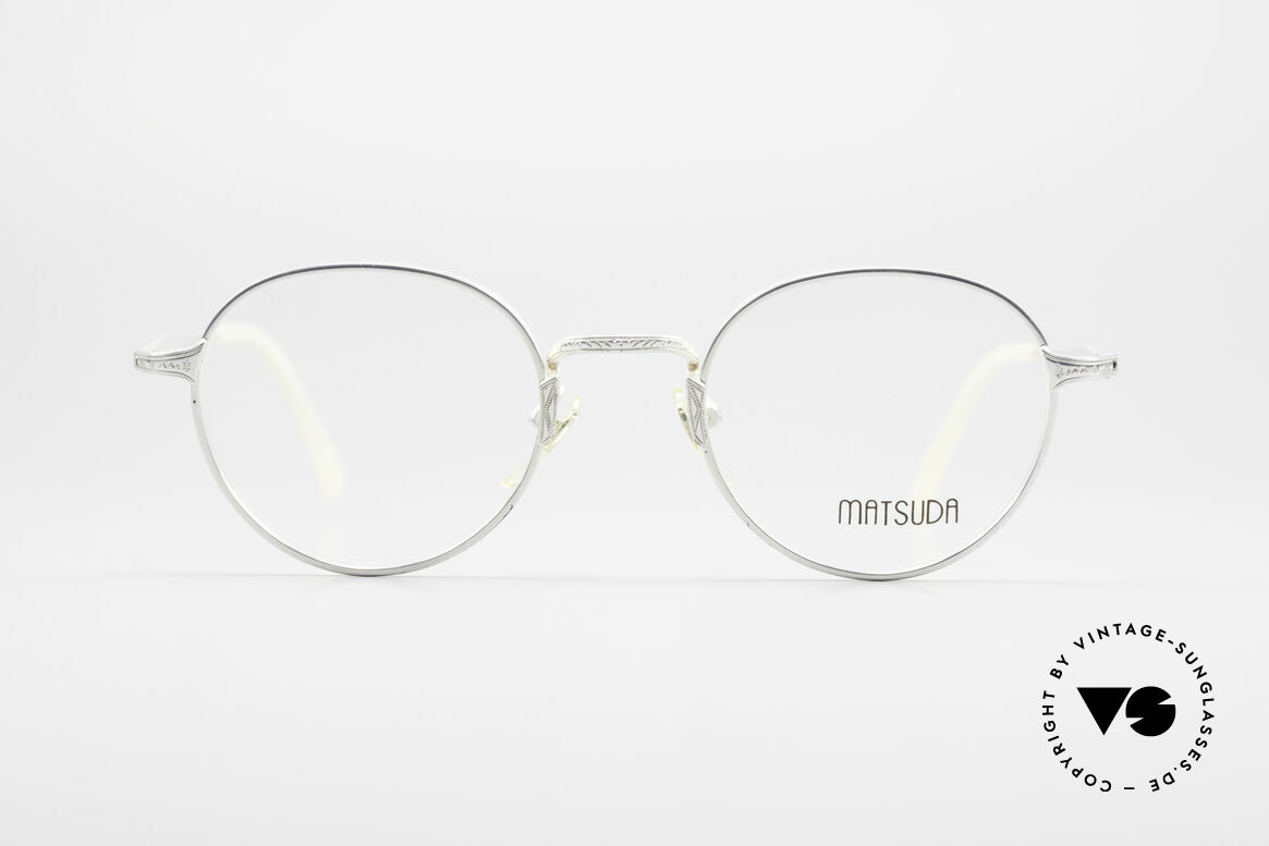 Matsuda 2858 Round Vintage Designer Frame, tangible TOP-NOTCH quality of all frame components!, Made for Men and Women