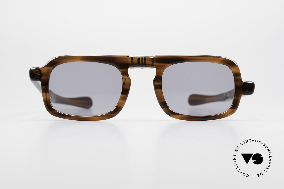 Robert La Roche 15 Rare 70's Folding Sunglasses, rare old vintage sunglasses by Robert La Roche, Made for Men