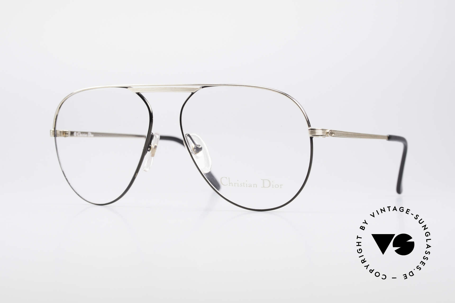 Christian Dior 2536 Vintage Aviator Glasses Men, awesome aviator eyeglasses by Christian Dior, Made for Men