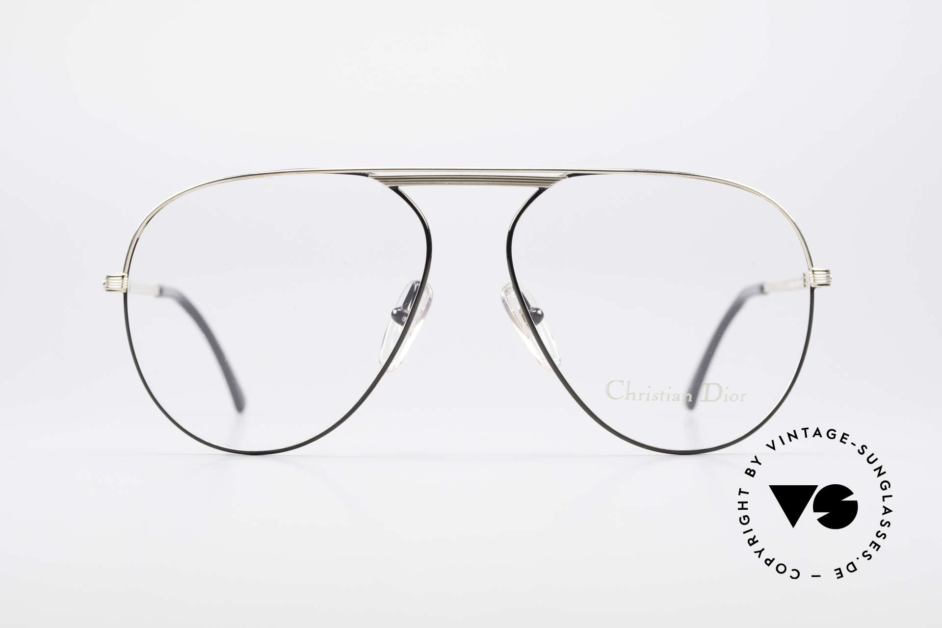 Christian Dior 2536 Vintage Aviator Glasses Men, top quality (bridge & temples are gold-plated), Made for Men