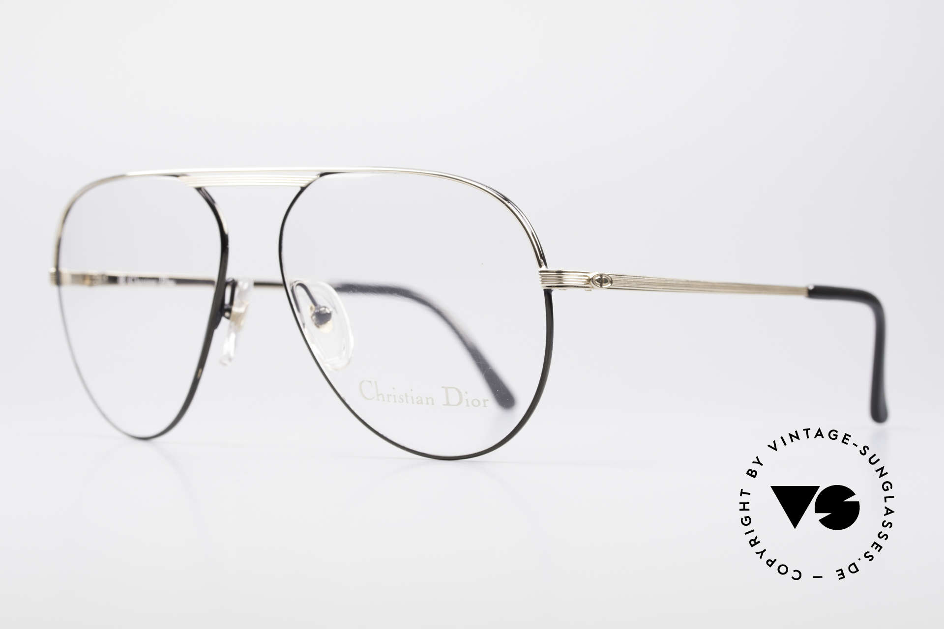 Christian Dior 2536 Vintage Aviator Glasses Men, M version in size 58-15 (135mm frame width), Made for Men