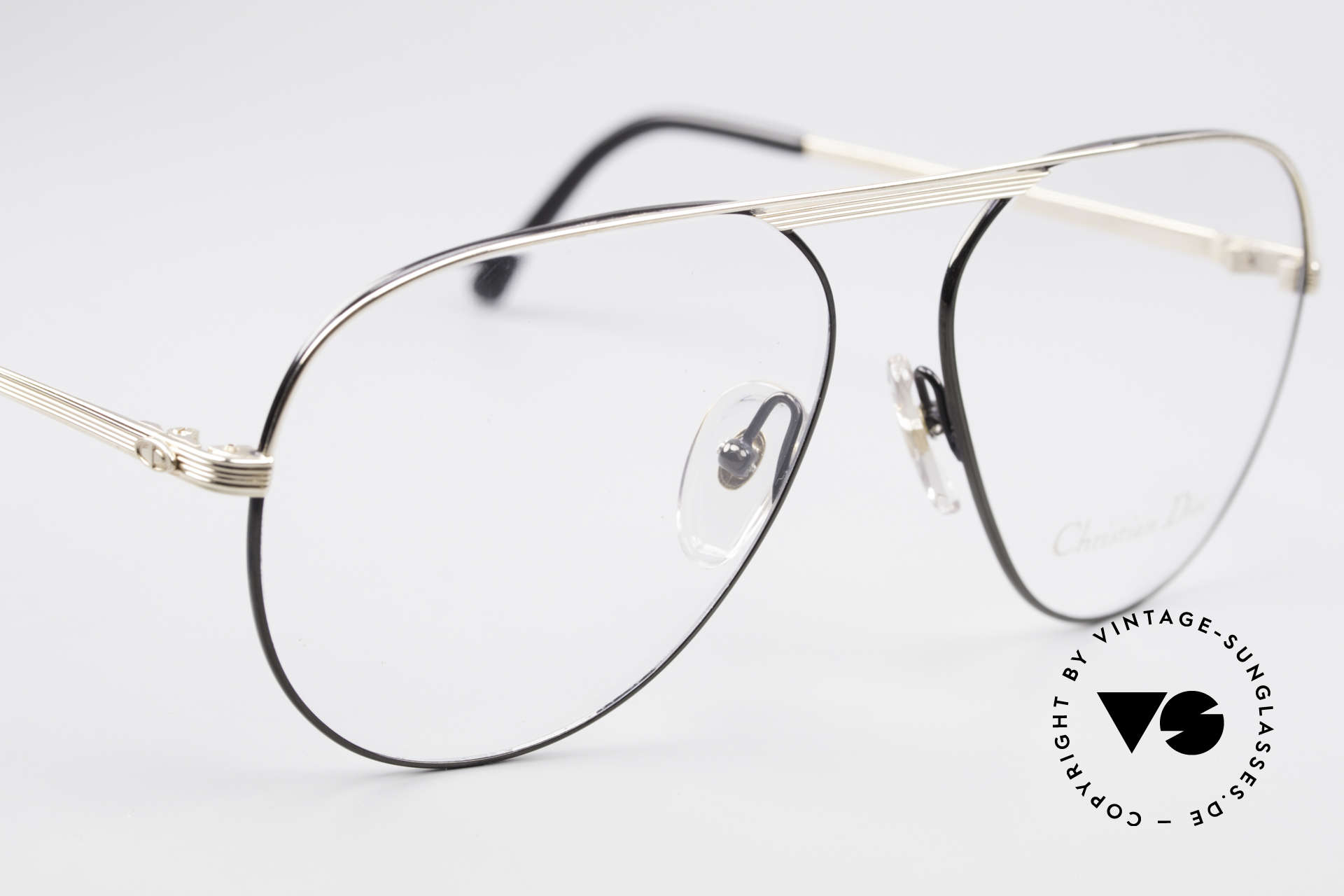 Christian Dior 2536 Vintage Aviator Glasses Men, NO retro specs, but an old original from 1989!, Made for Men