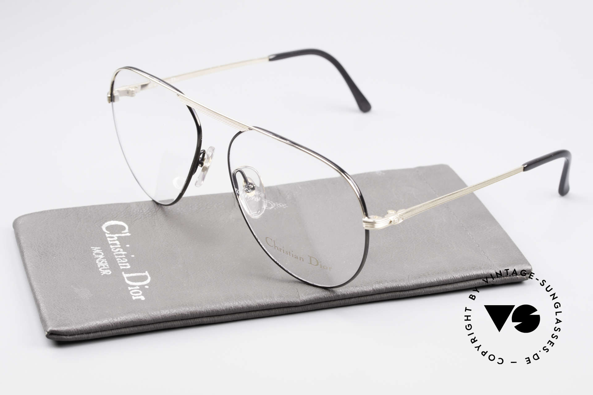 Christian Dior 2536 Vintage Aviator Glasses Men, the metal frame is made for lenses of any kind, Made for Men