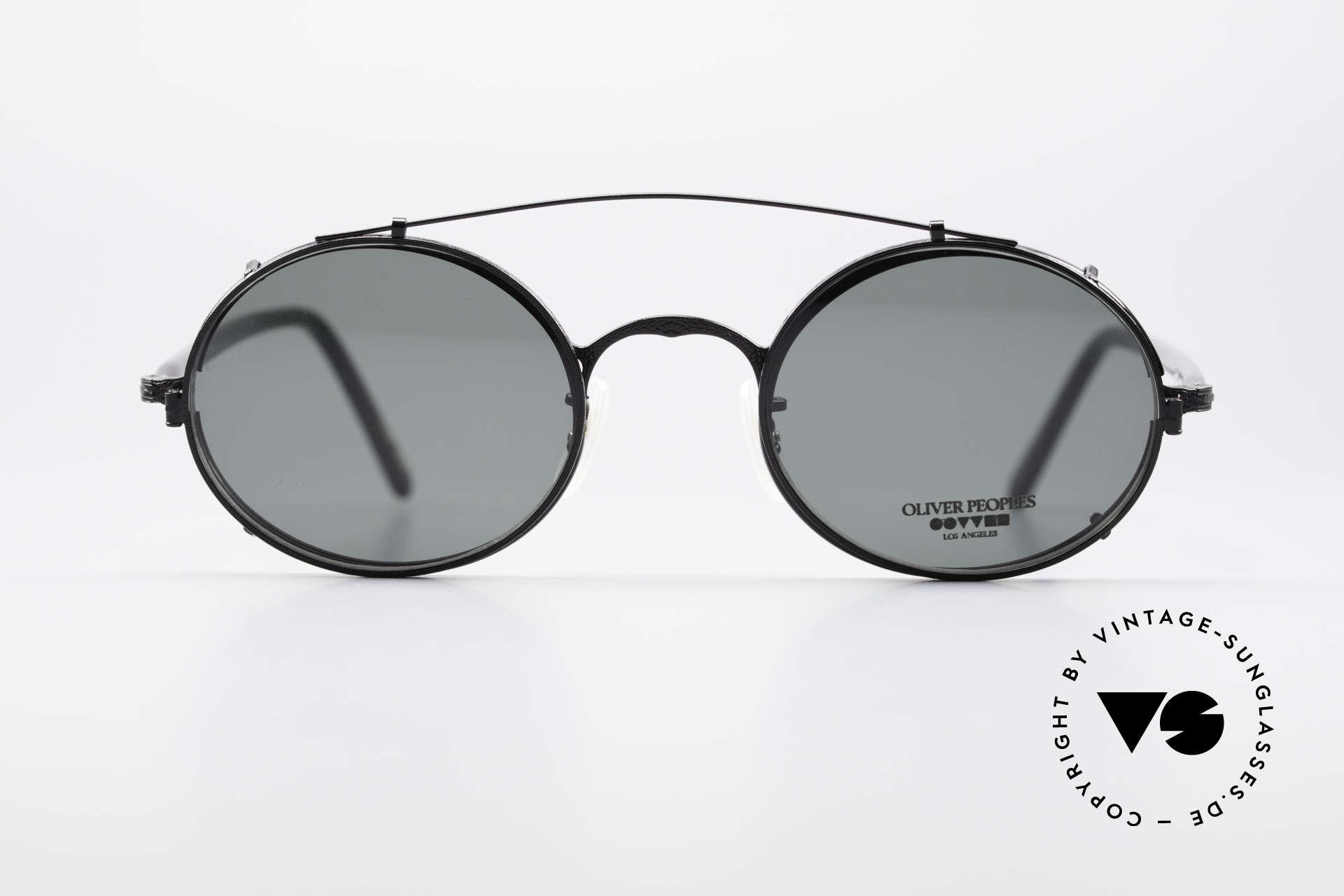 Oliver Peoples 68MBK Vintage Frame Sun Clip On