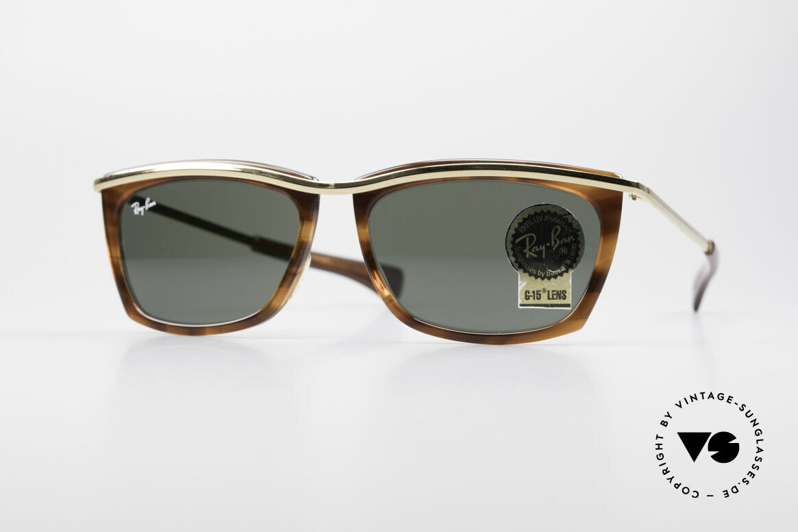 Ray Ban Olympian II B&L Ray-Ban USA Sunglasses, unisex model of the Ray Ban Olympian Collection, Made for Men and Women