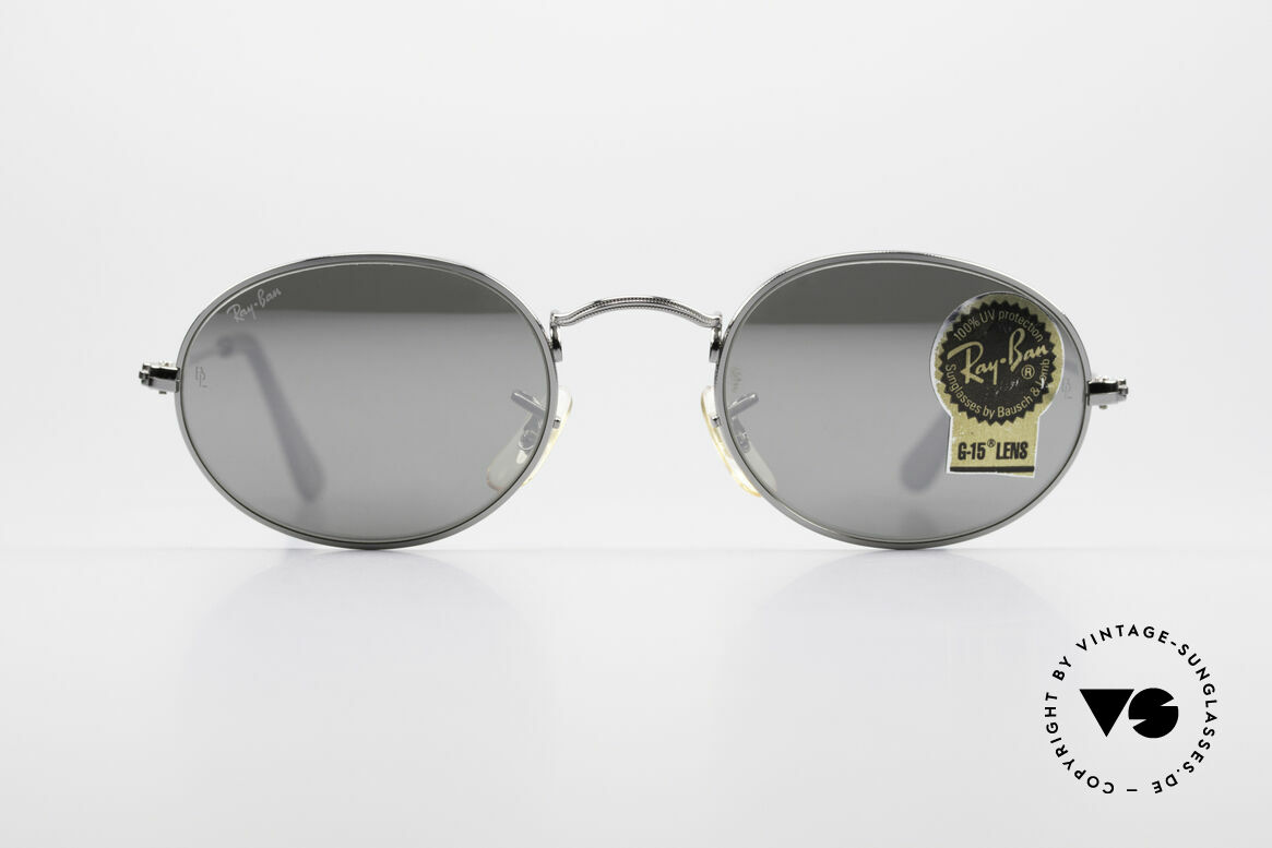 Ray Ban Classic Style I Mirrored B&L USA Sunglasses, oval vintage sunglasses with mirrored lenses, Made for Men and Women