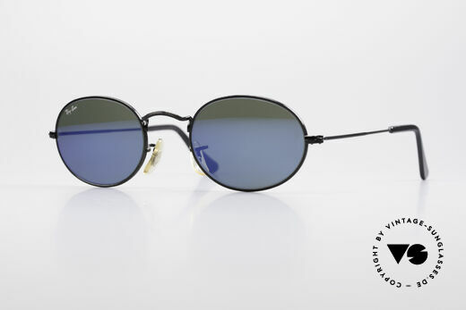 Ray Ban Classic Style I Blue Mirrored USA Sunglasses Details