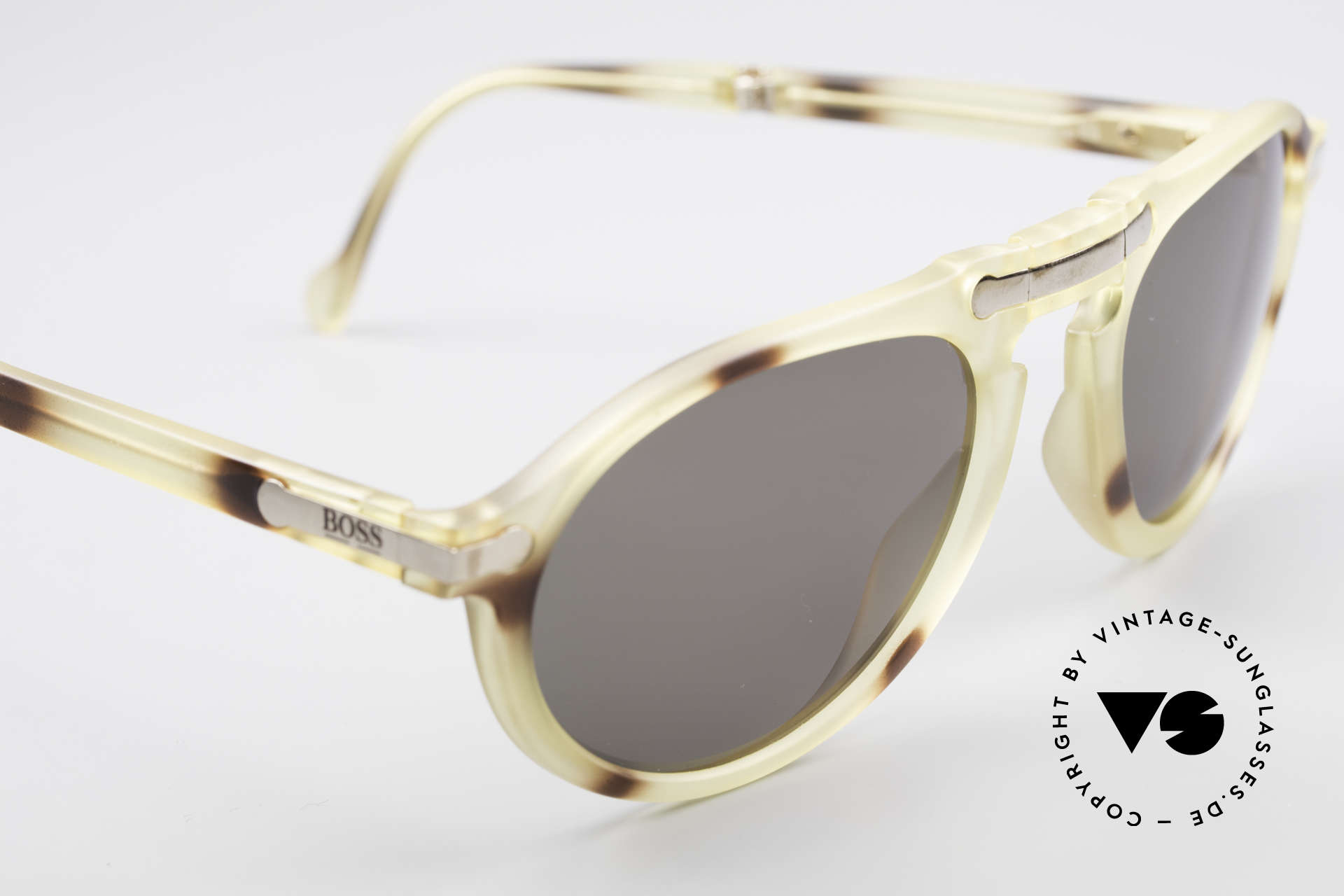 BOSS 5153 Vintage Folding Sunglasses 90's, NO retro fashion, but an authentic timeless classic, Made for Men