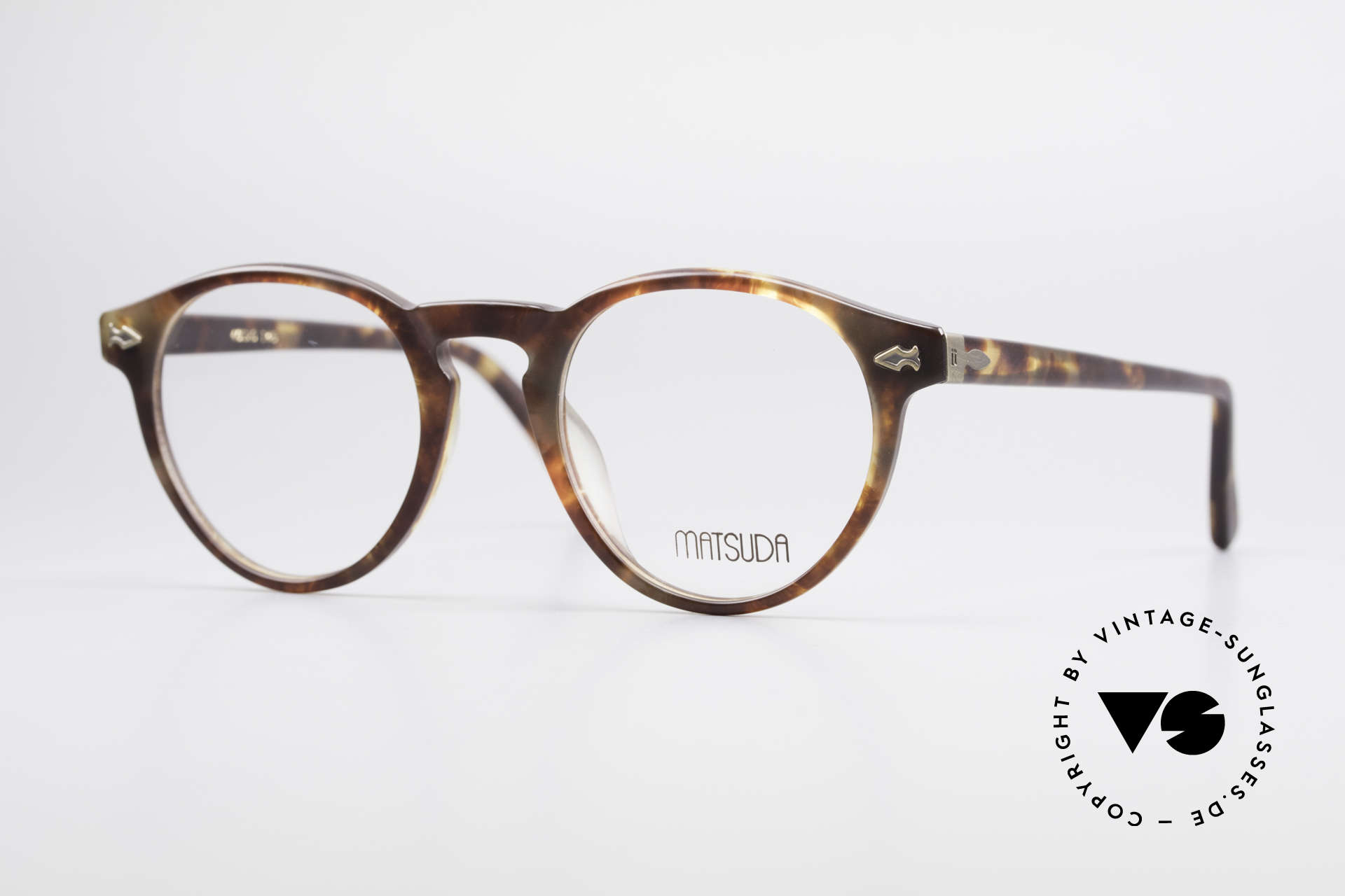 Matsuda 2303 Panto Vintage Eyeglasses, vintage Matsuda designer eyeglasses from the mid 90's, Made for Men and Women