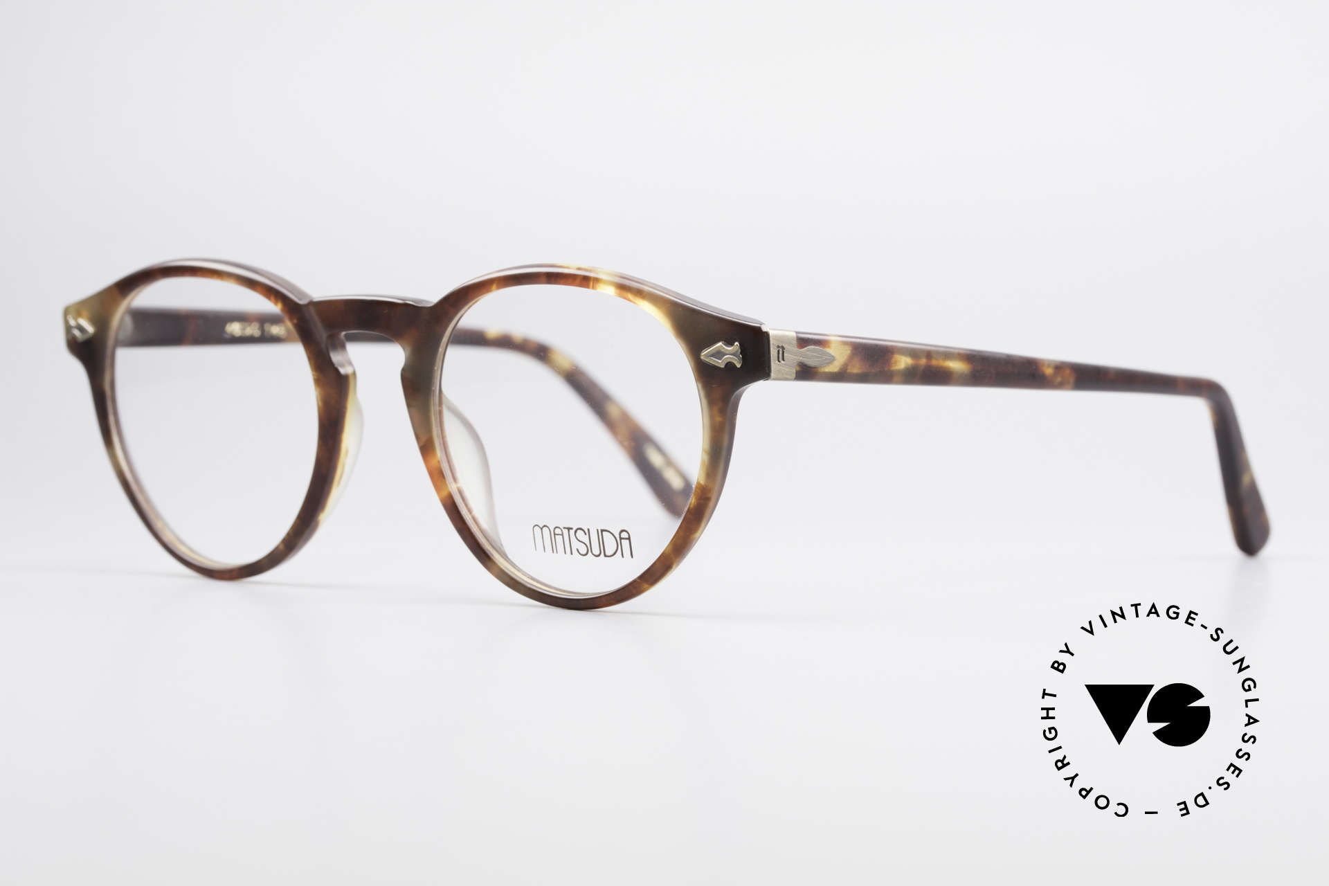 Matsuda 2303 Panto Vintage Eyeglasses, a true classic in coloring and design, medium size 46-20, Made for Men and Women