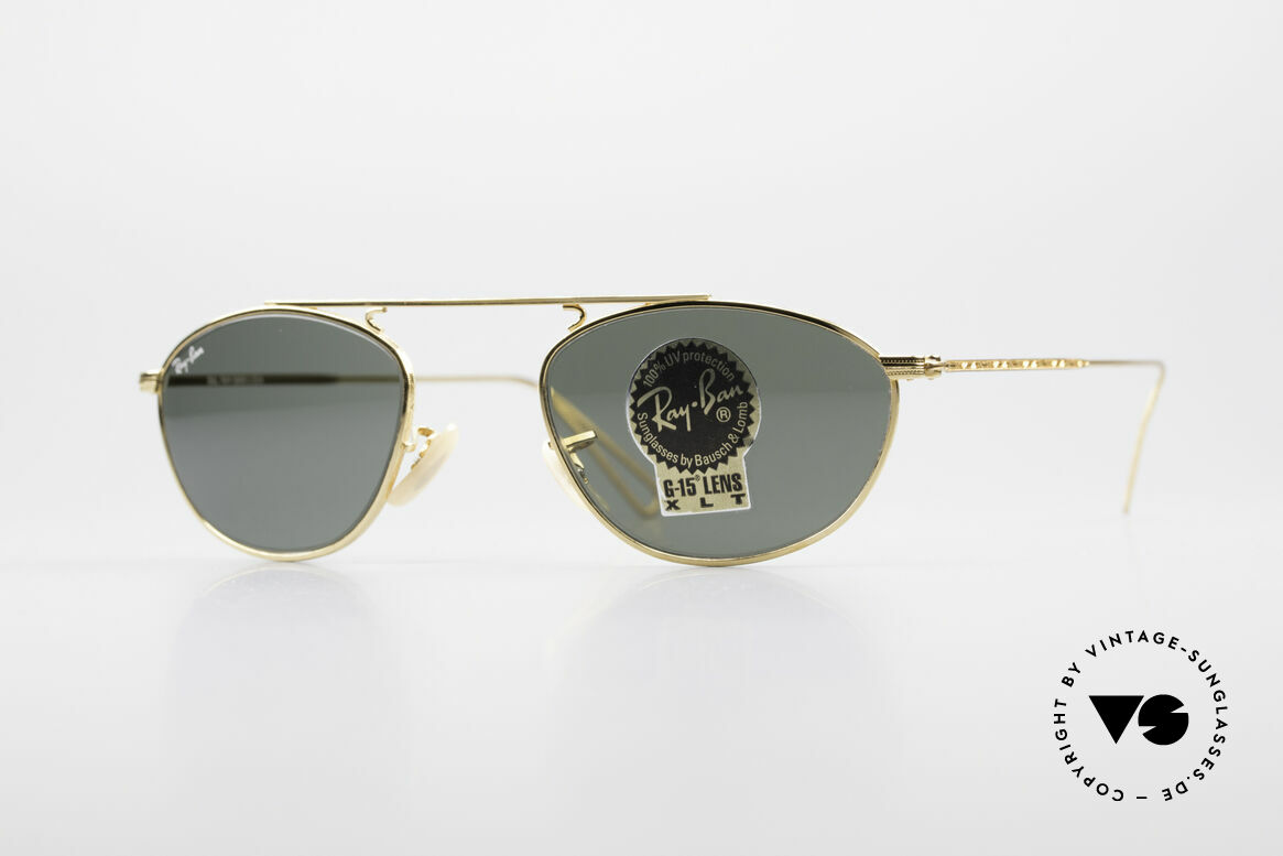 Ray Ban Modified Aviator Old USA Ray-Ban Sunglasses, Ray-Ban sunglasses of the 'Vintage Metal Collection', Made for Men and Women