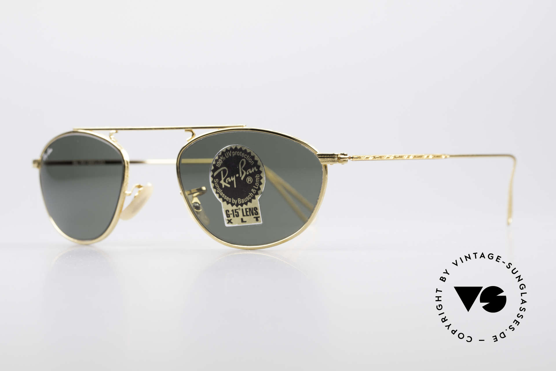 Ray Ban Modified Aviator Old USA Ray-Ban Sunglasses, legendary B&L mineral lenses (100% UV protection), Made for Men and Women