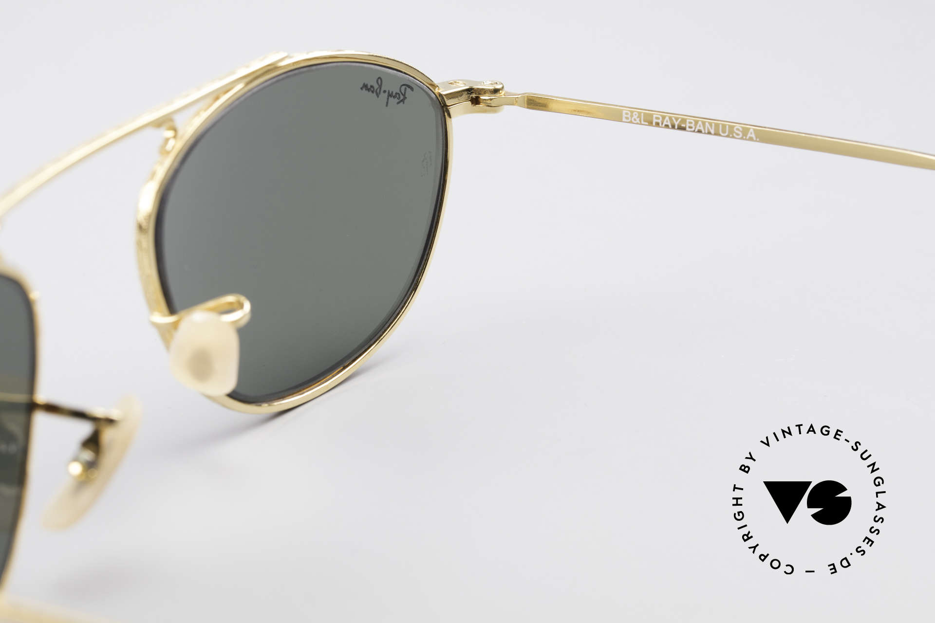 Ray Ban Modified Aviator Old USA Ray-Ban Sunglasses, orig. name: B&L Vintage Aviator, W2003, 49mm, G-15, Made for Men and Women