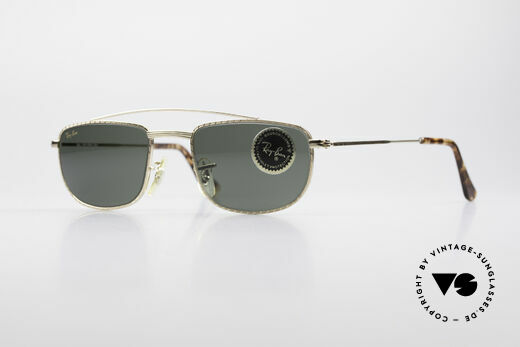 Ray Ban 1940's Retro Rectangle Old USA Ray-Ban Bausch&Lomb Details