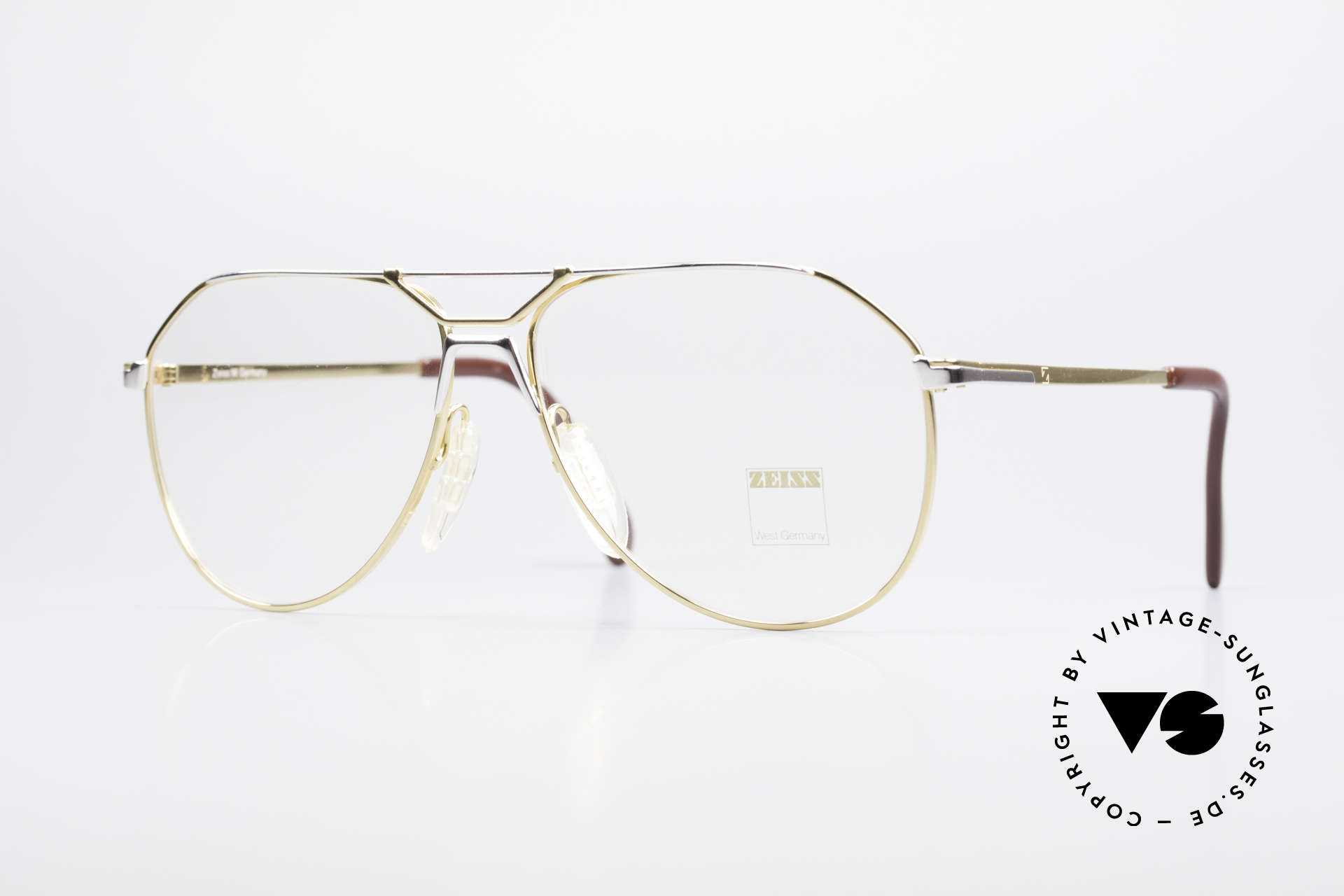 Zeiss 5897 West Germany 80's Eye Frame, very sturdy vintage eyeglasses by Zeiss from app. 1981, Made for Men