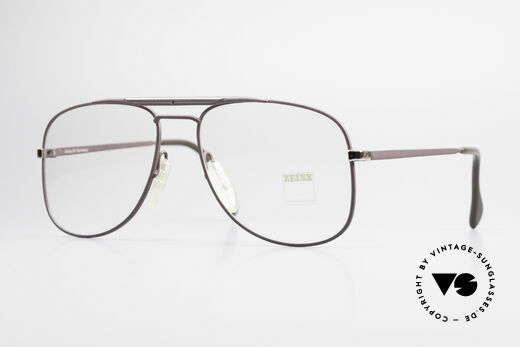 Zeiss 5886 Old 80's Eyeglass-Frame Men Details