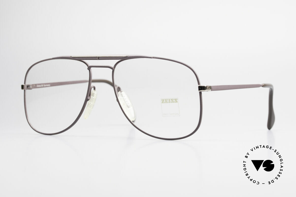 Zeiss 5886 Old 80's Eyeglass-Frame Men, sturdy vintage eyeglass-frame by ZEISS from 1986, Made for Men