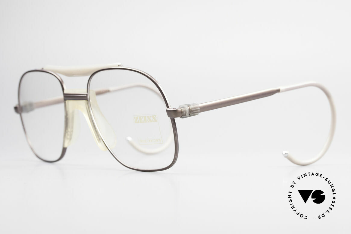 Zeiss 7037 80's Old School Sports Glasses, flexible sports temples for best fitting performance, Made for Men