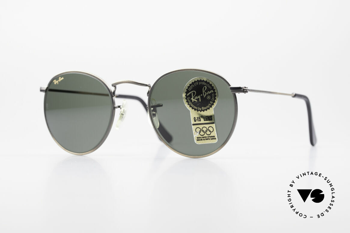 Ray Ban Round Metal 47 Small Round Vintage Shades, small round 1980's Ray-Ban B&L vintage sunglasses, Made for Men and Women