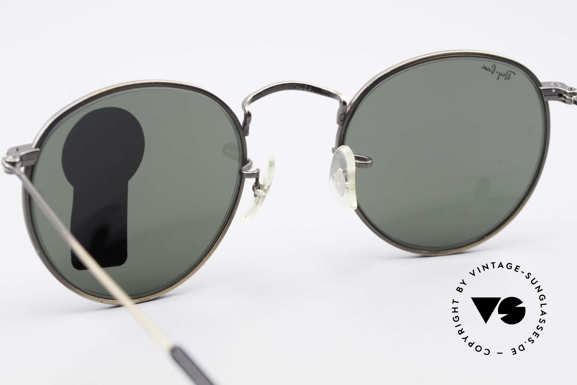 Ray Ban Round Metal 47 Small Round Vintage Shades, NO RETRO EYEWEAR, but a rare old 1980's Original!, Made for Men and Women